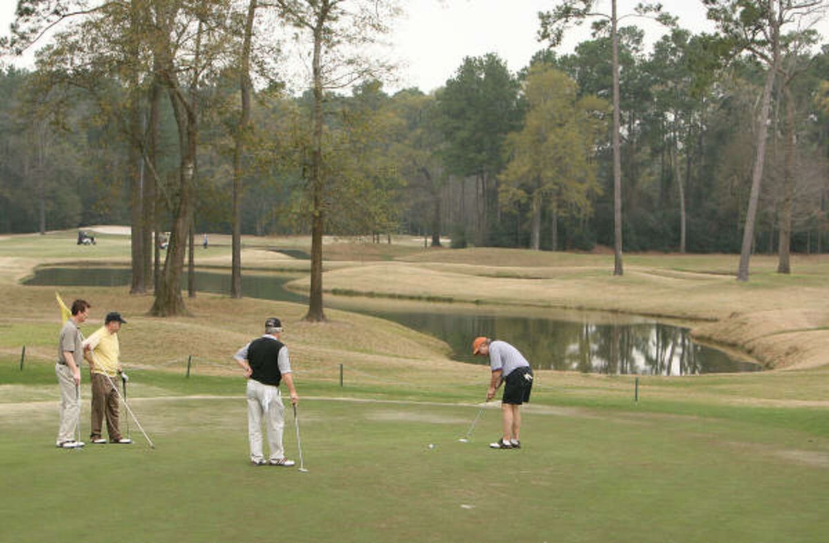 Business is just fine at Longwood Golf Club in Cypress.