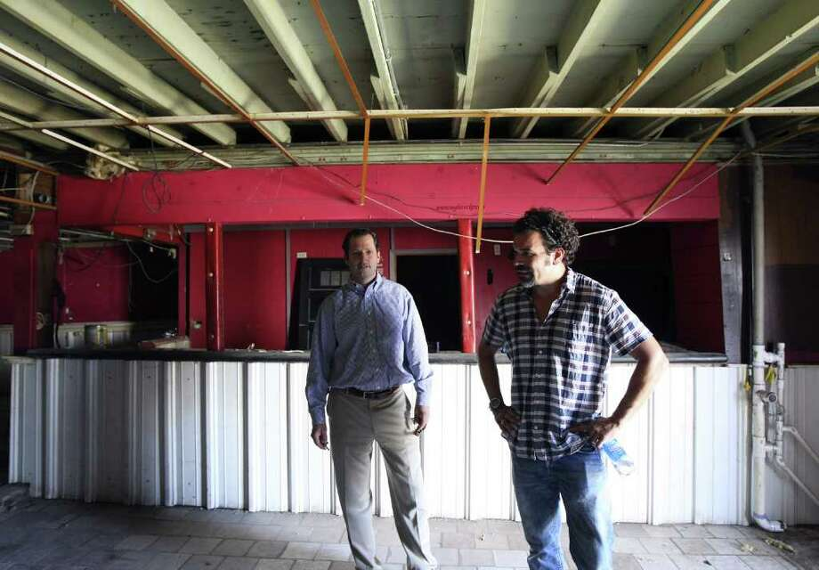 Developer David Adleman and San Antonio-native and television star Ricardo Chavira are working to redevelop the former Taco Land. Photo: HELEN L. MONTOYA, San Antonio Express-News / SAN ANTONIO EXPRESS-NEWS