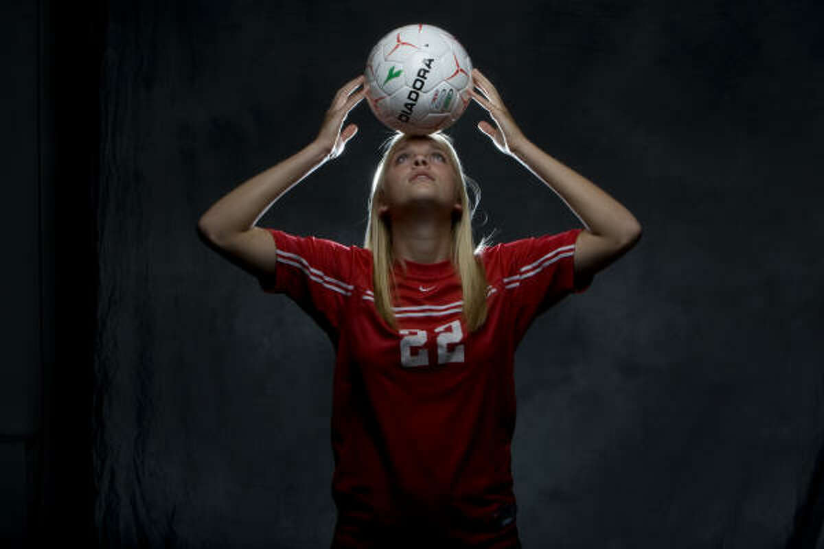 Senior Olivia Kintigh scored 22 goals for The Woodlands as she led the team to the state final.