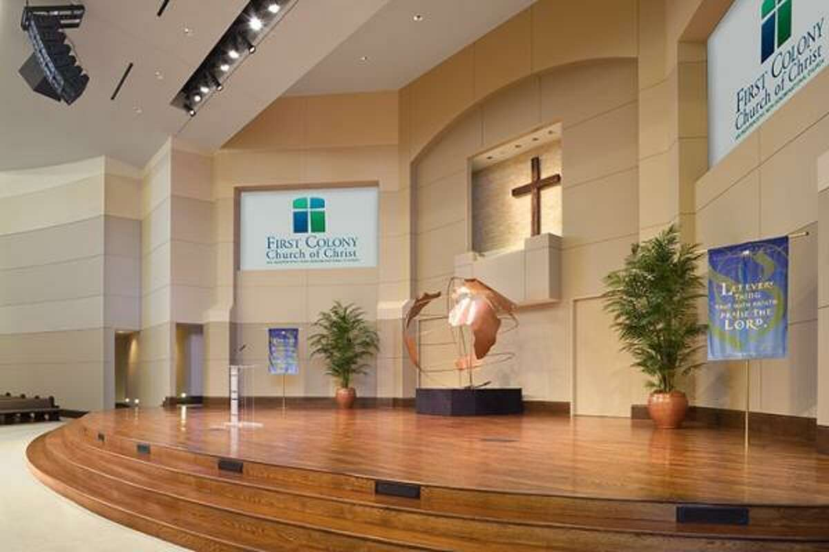 The new 24,000-square-foot worship center can seat 1,200 people.