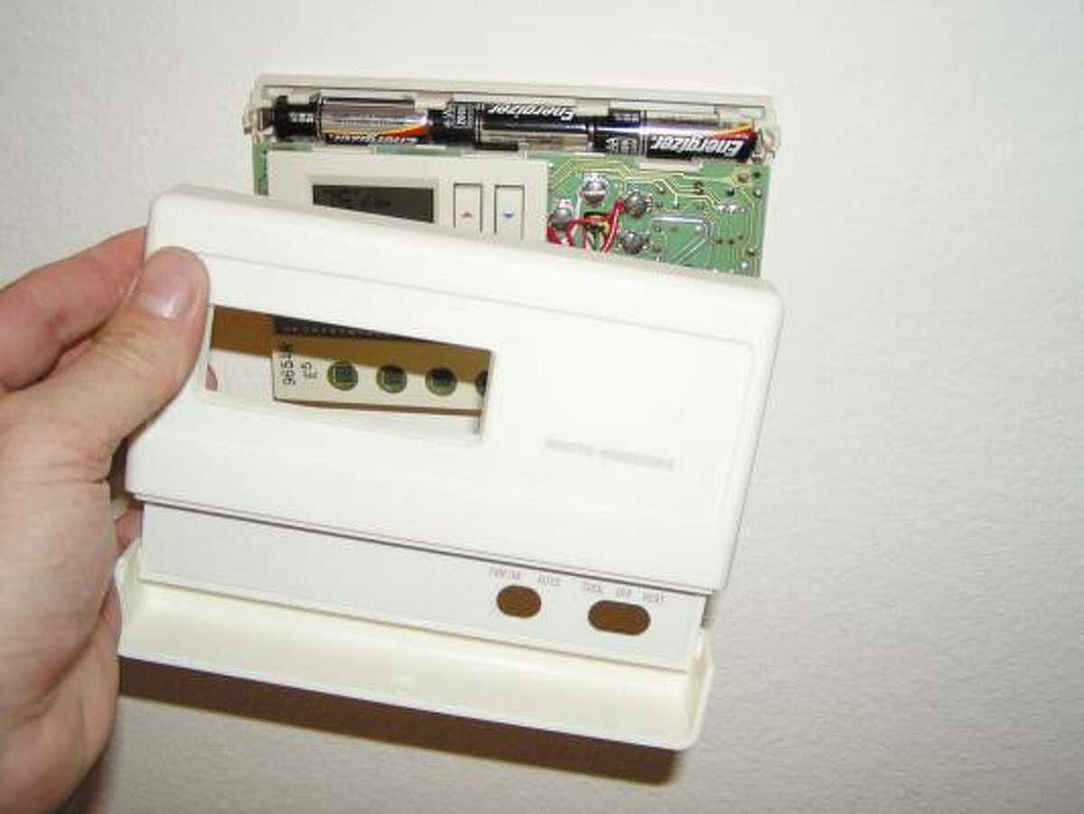 TEMPERATURE SENSITIVE: Most electronic thermostats have batteries that should be replaced about every six months.