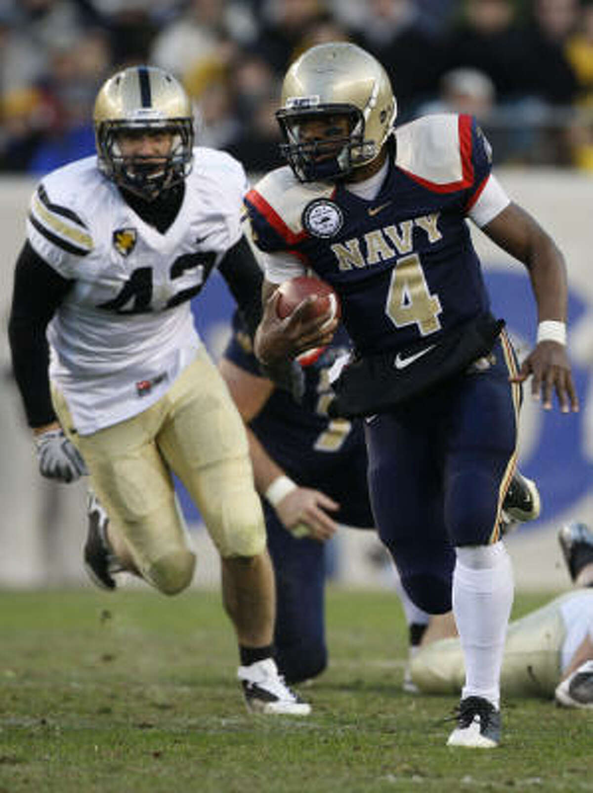 In his first year as Navy's starting quarterback, Ricky Dobbs has rushed for 24 touchdowns.