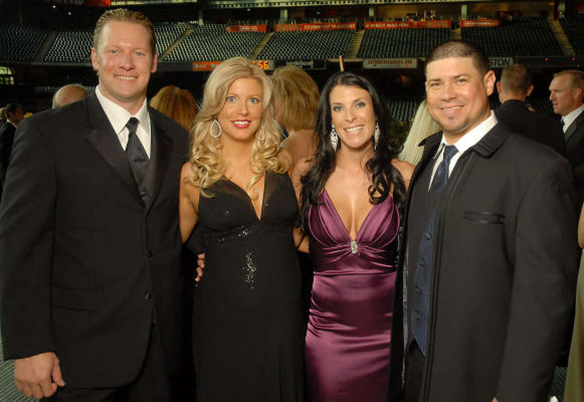 Gala chairs and their husbands Jason and Pamela Michaels, from left, and Michelle and Humberto Quintero.