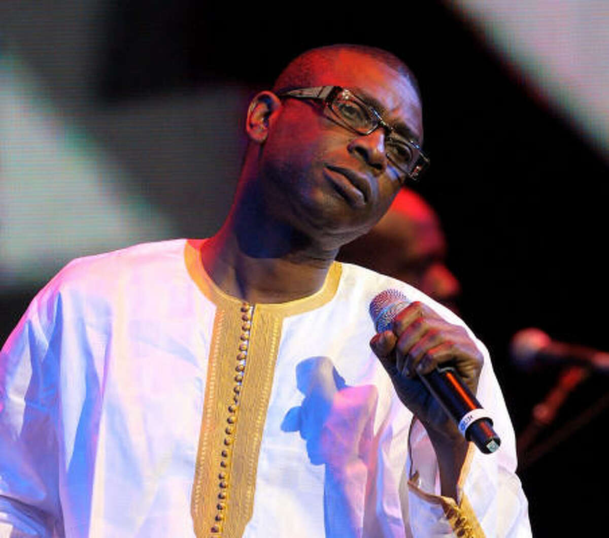 Youssou N'Dour performs onstage at the Africa Rising Festival, held at the Royal Albert Hall in England in 2008.