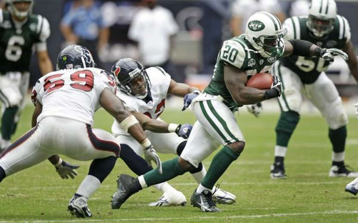 The Texans will need a better defensive effort than the one they got against Thomas Jones and the Jets to avoid an 0-2 start.
