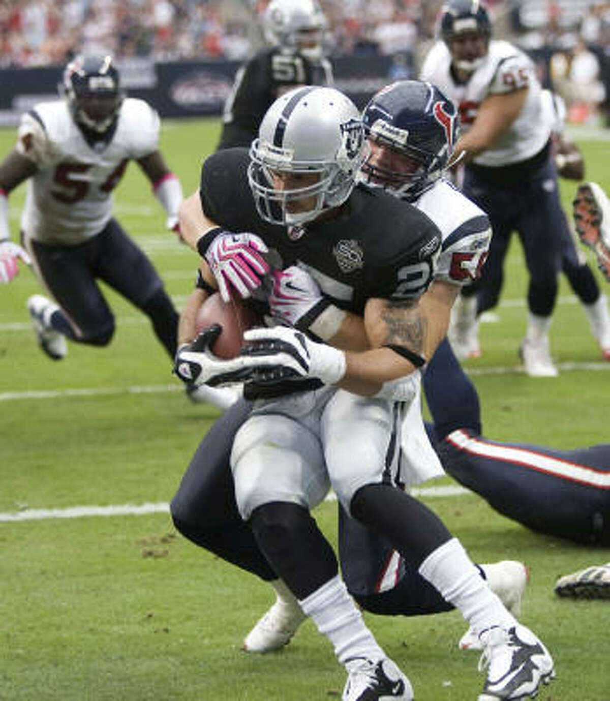 Rookie linebacker Brian Cushing's intensity has made an impact for the Texans.