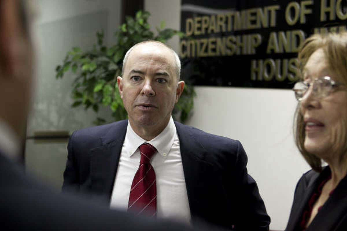 Alejandro Mayorkas, director of Citizenship and Immigration Services, is worried about a big budget shortfall.