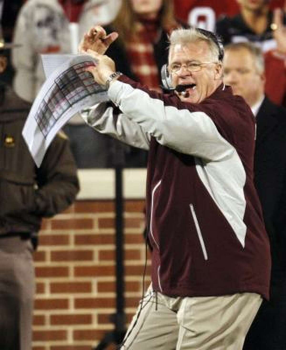 Mike Sherman and the Aggies could be in line for a Texas Bowl bid against Navy if they beat Baylor.