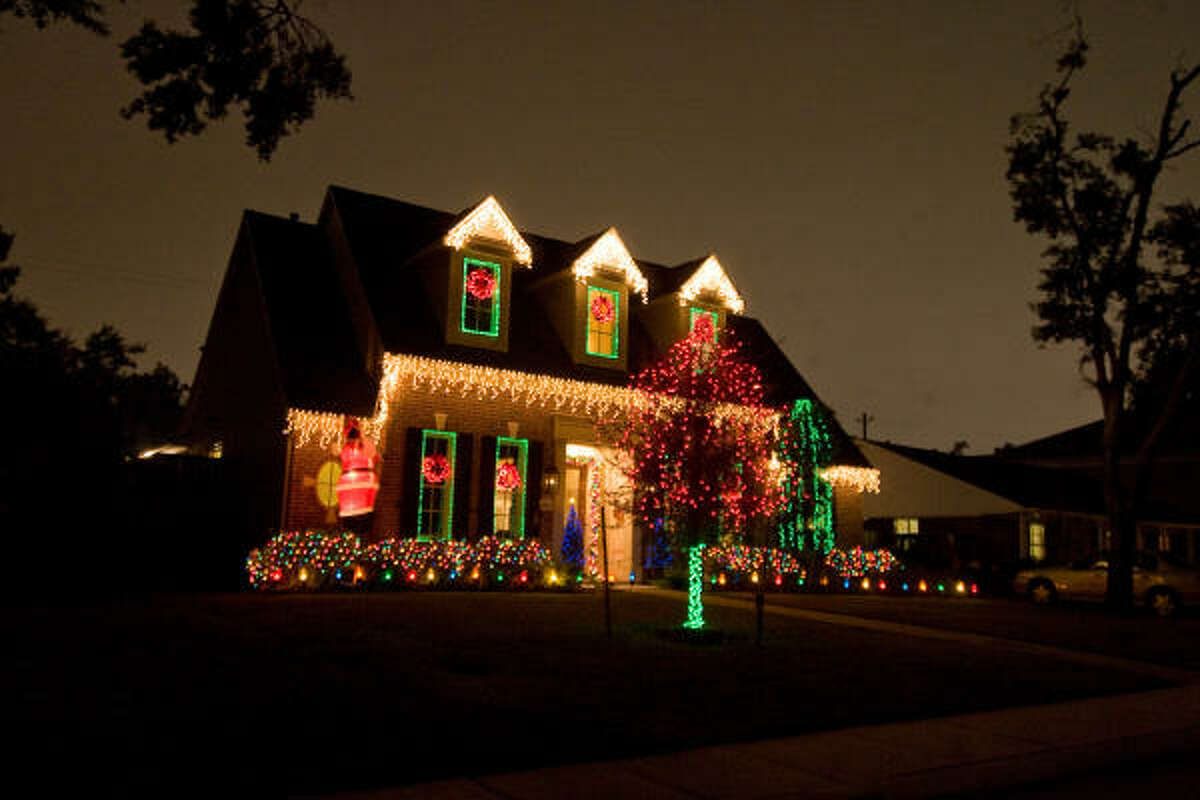HOLIDAY DECOR: Several homes in the Briar Grove area, like this one, have been decorated for the holiday season.