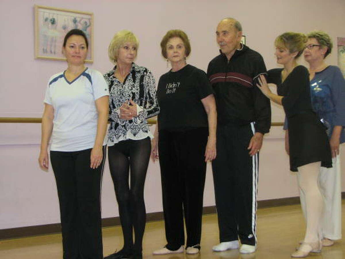 Seniors take ballet classes at the Divine Dance Academy.