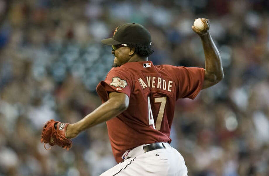 Astros closer Jose Valverde has a career-best 1.88 ERA and 23 saves this season. Photo: James Nielsen, Houston Chronicle