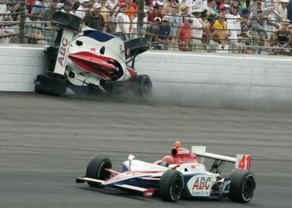 Vitor Meira has been on the mend since this crash at the Indianapolis 500 in May.