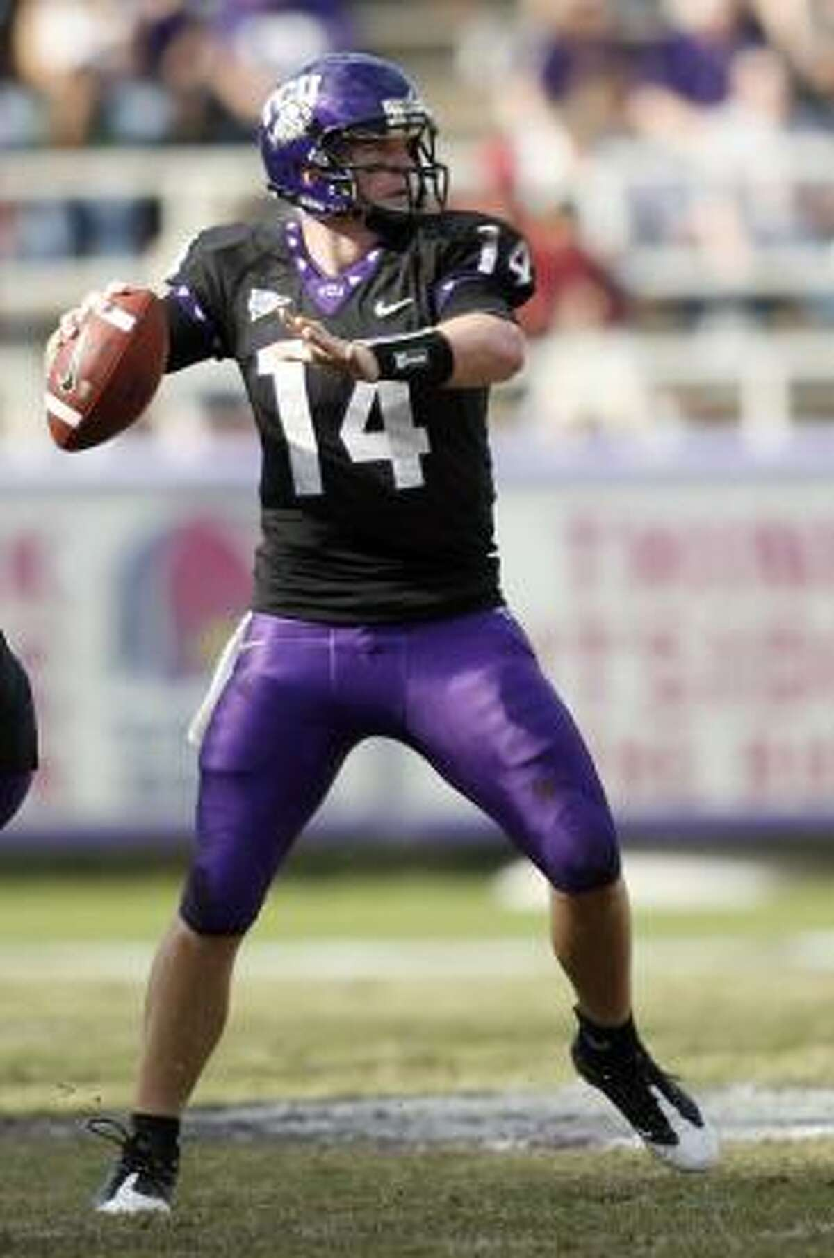 Horned Frogs quarterback Andy Dalton trails Sammy Baugh in career victories 29-23. But Dalton, still a junior, has one more season to surpass the TCU legend.