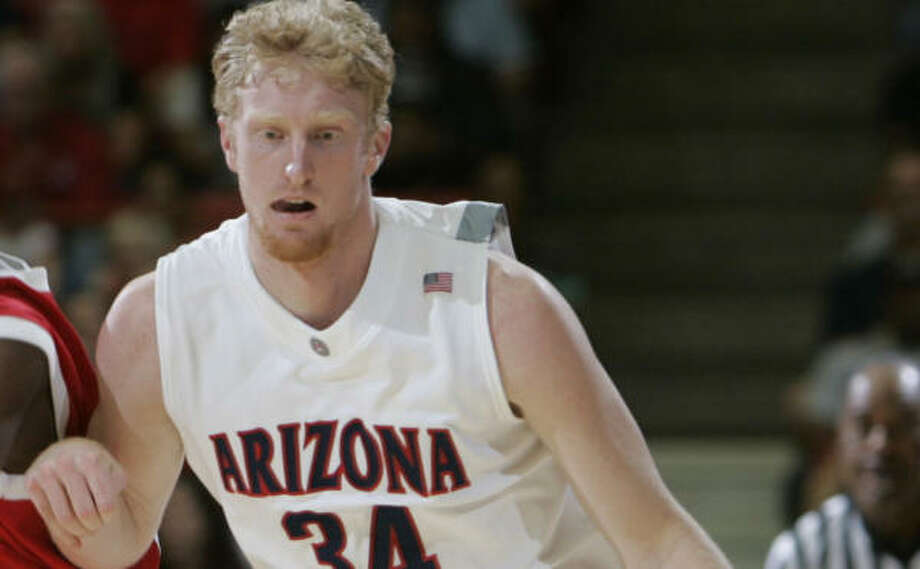 UH's Aubrey Coleman was ejected Saturday for stepping on Arizona's Chase Budinger (pictured) in the second half. Photo: James Gregg, AP
