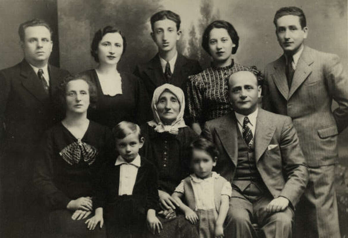 This Spritzer family photo was taken in 1937, shortly before the family was ripped apart. Sam Spritzer, in the center of the back row, was 15 at the time.