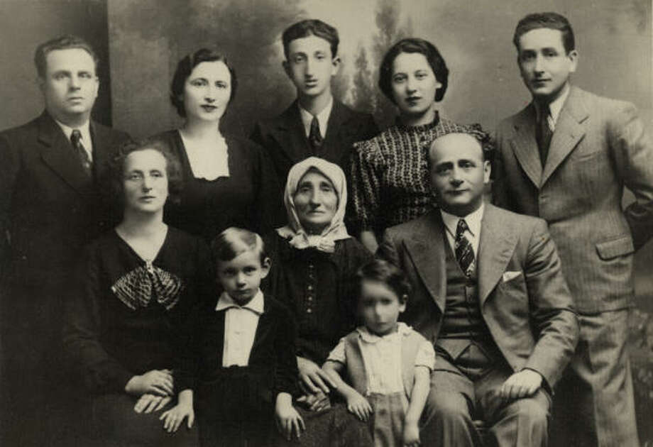 This Spritzer family photo was taken in 1937, shortly before the family was ripped apart. Sam Spritzer, in the center of the back row, was 15 at the time. Photo: Courtesy Of The Spritzer Family