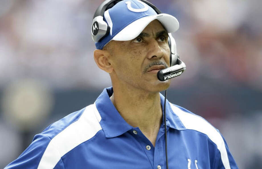 Tony Dungy has spent seven of his 13 years as a head coach in the NFL with the Colts. The other six were with the Tampa Bay Buccaneers. Photo: Brett Coomer, Chronicle