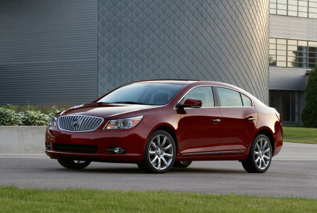 "Buick's 2010 LaCrosse luxury sedan's forward-thinking, global design blends with traditional Buick styling cues: a bold waterfall grille, ""sweep-spear"" body lines and portholes. The LaCrosse is offered in three models, ranging in price from $27,835 to $33,765."