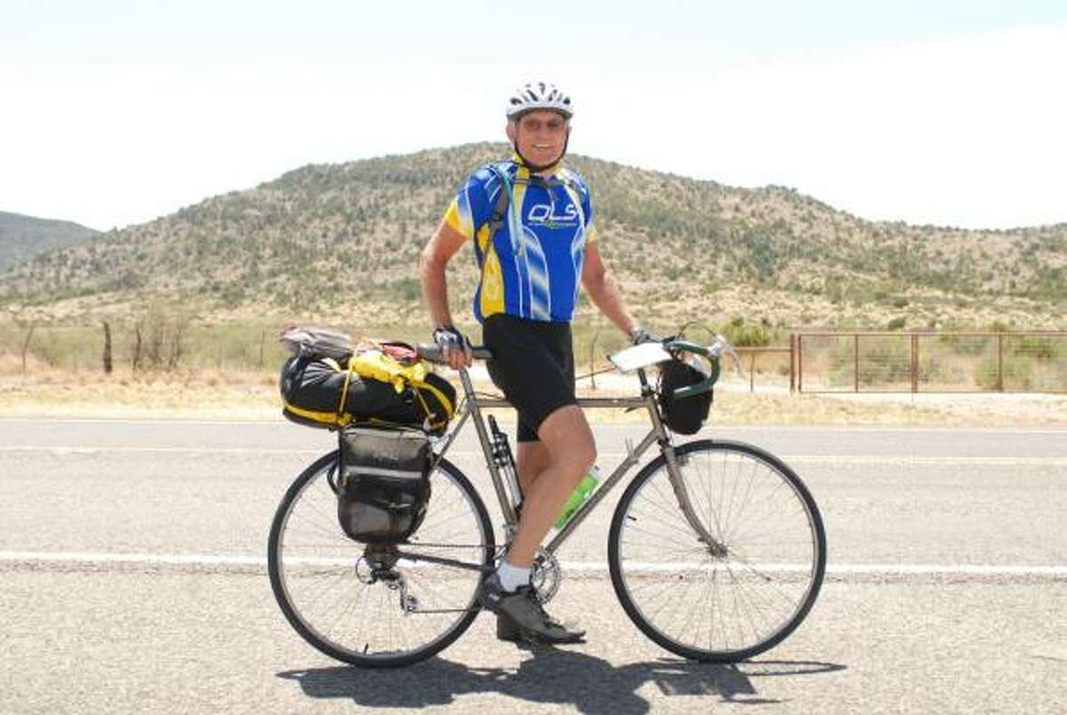 LONG ADVENTURE: Atascocita resident Tore Schau celebrated his 70th birthday by biking around the continential United States. The three-month road trip started on April 19 and ended July 18.