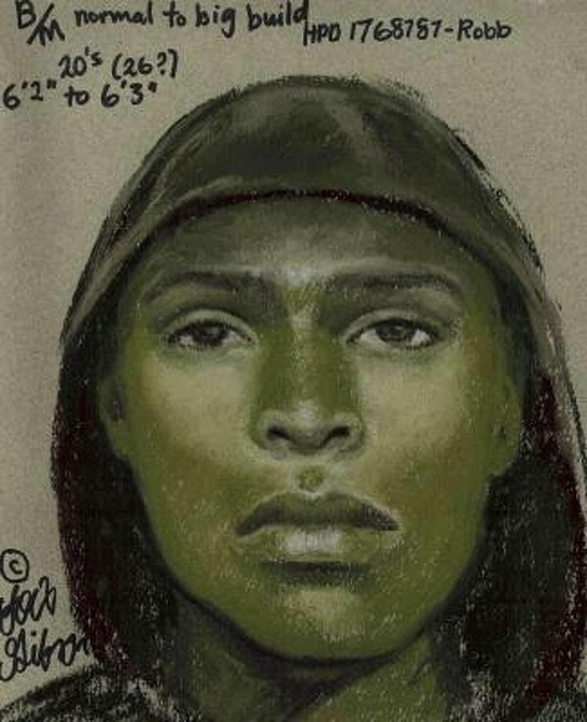 This composite sketch is of one suspect in the Jan. 16 robbery of an employee at the Channelview Post Office.
