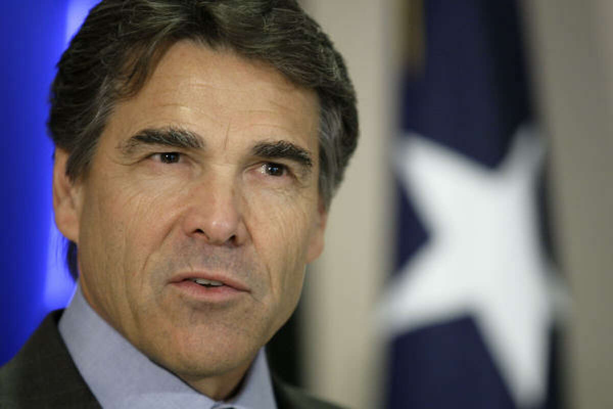 Texas Gov. Rick Perry, shown during a recent appearance, delivered his State of the State address today at the Capitol in Austin.