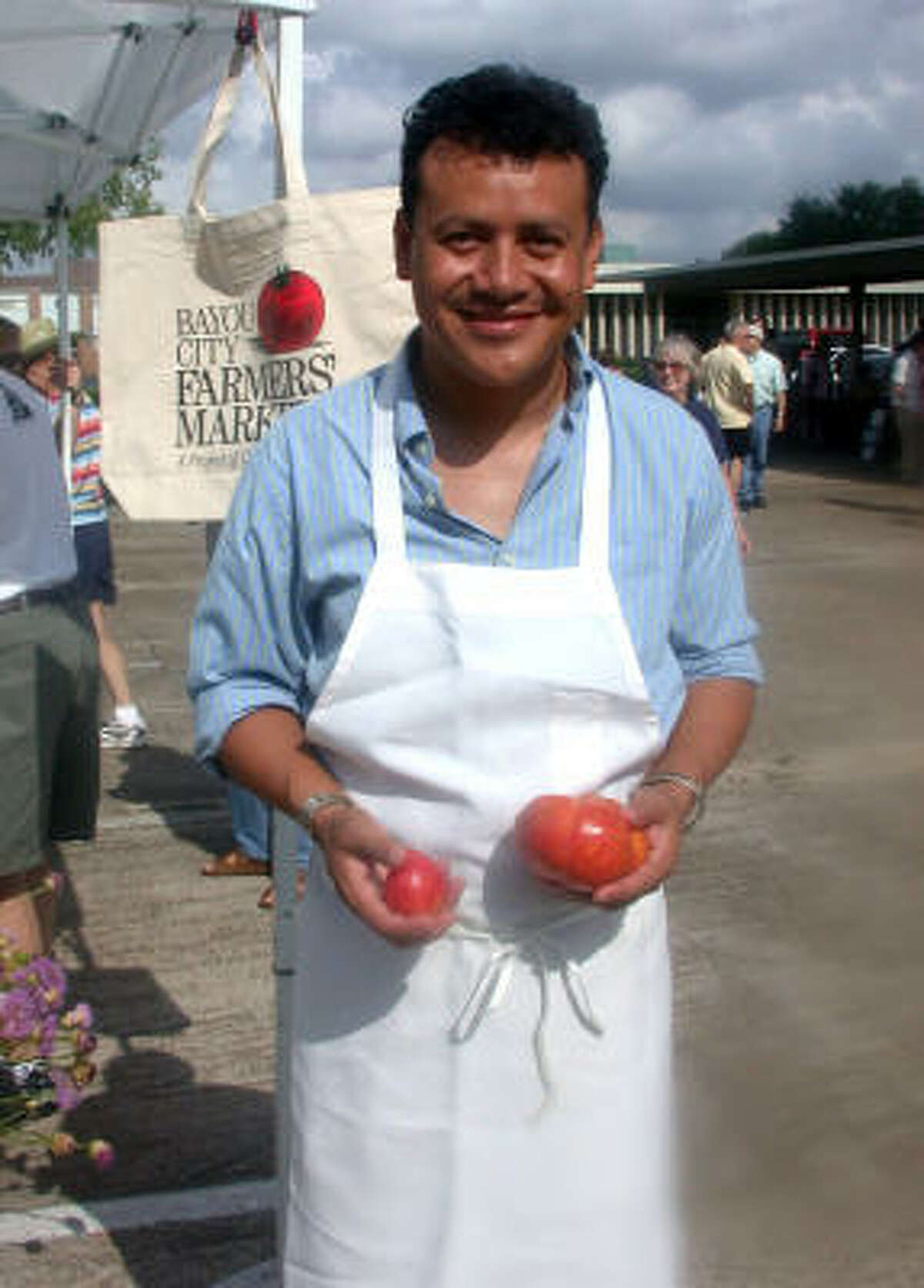 Hugo Ortega, the executive chef of Backstreet Cafe and Hugo's, will be cooking up his favorite tomato-themed recipe at the Bayou City Farmers' Market Tomato Fest on June 6.