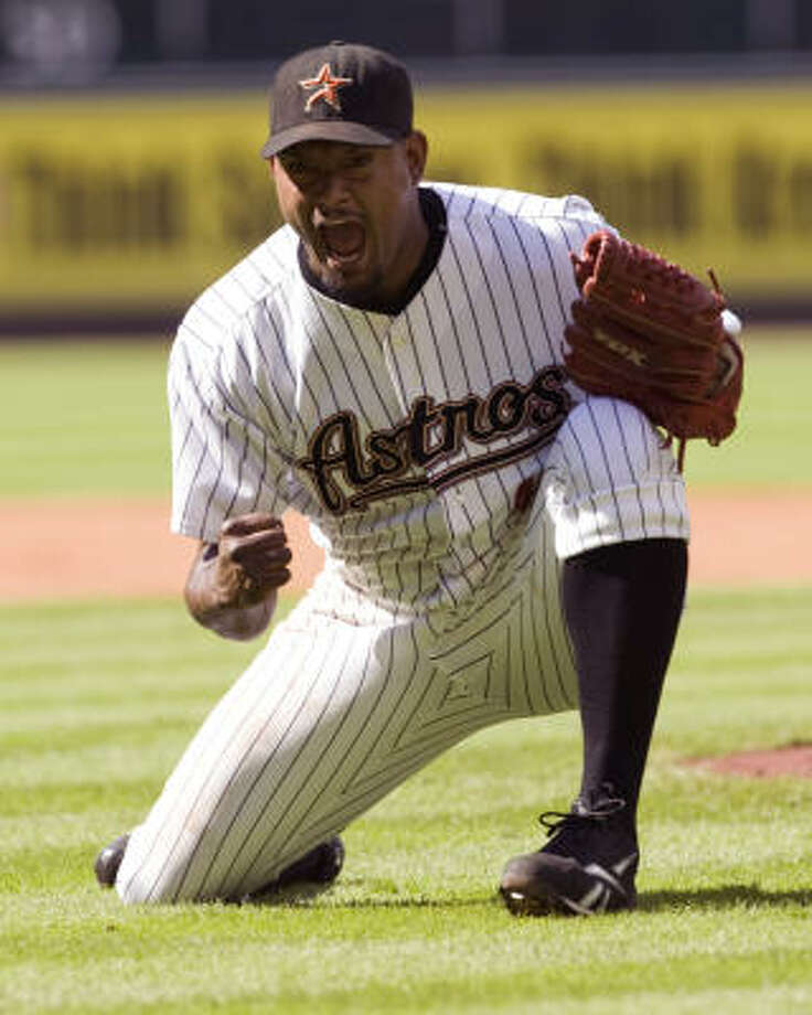 Astros closer Jose Valverde led the National League with 44 saves last season. Photo: Brett Coomer, Houston Chronicle