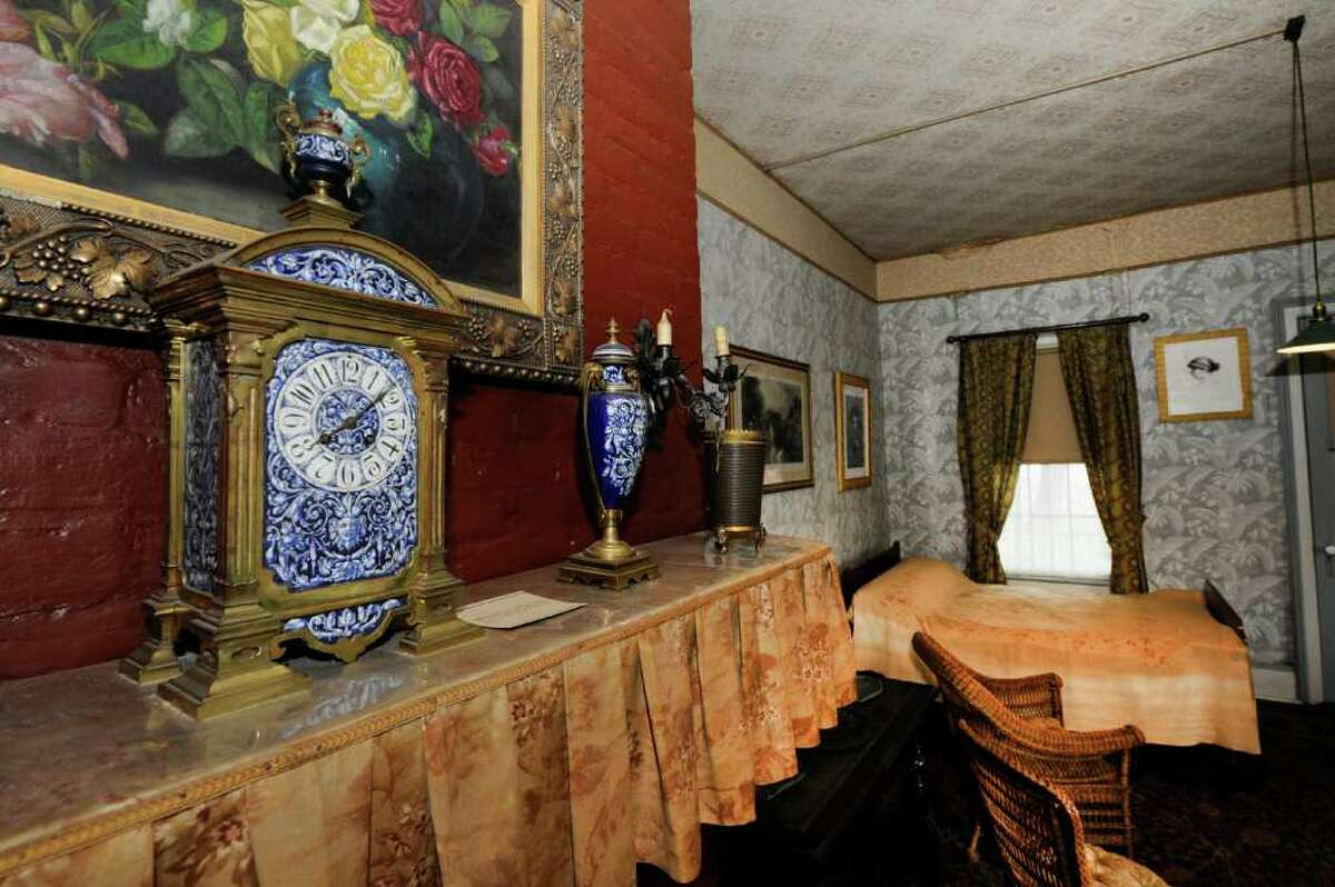 The clock was stopped at 8:08 when U.S. Grant passed away and has been preserved in that state near the bed where he died in the Grant Cottage in Wilton, N.Y. (Skip Dickstein / Times Union)