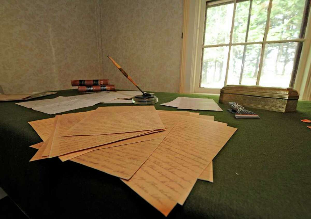 U.S. Grant's writings in a room in the Grant Cottage in Wilton, N.Y., on August 4, 2011. (Skip Dickstein / Times Union)