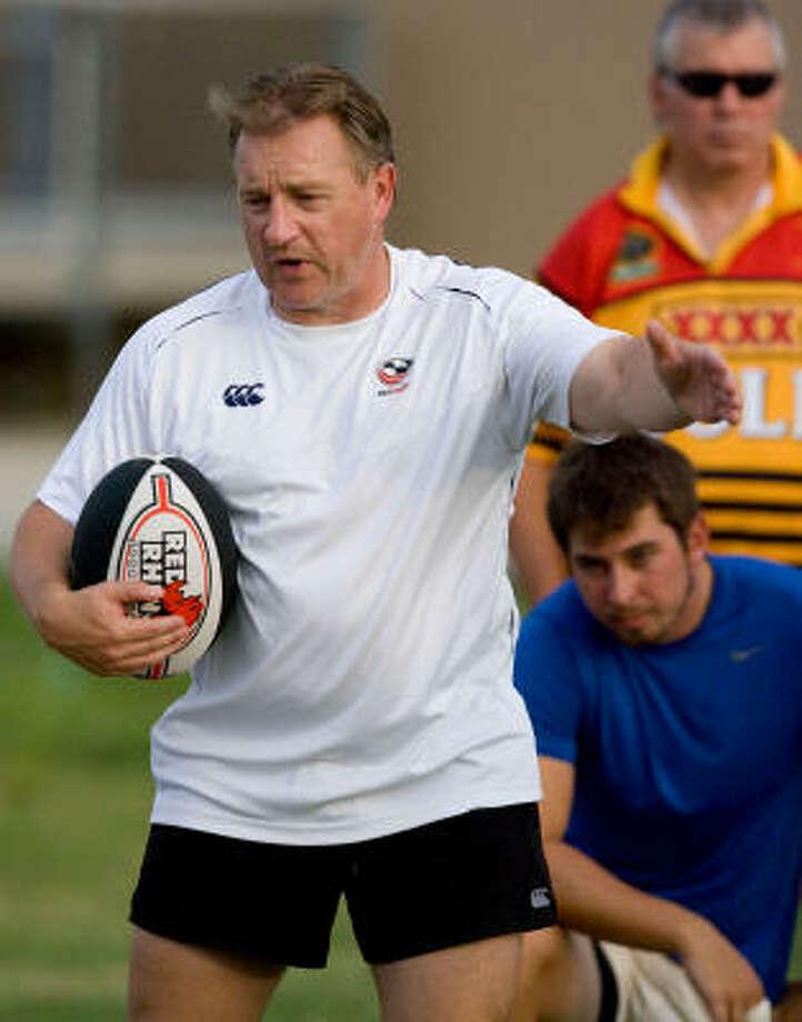 In rugby circles, when U.S. men's national team coach Eddie O'Sullivan talks, people listen. Photo: Billy Smith II, Houston Chronicle