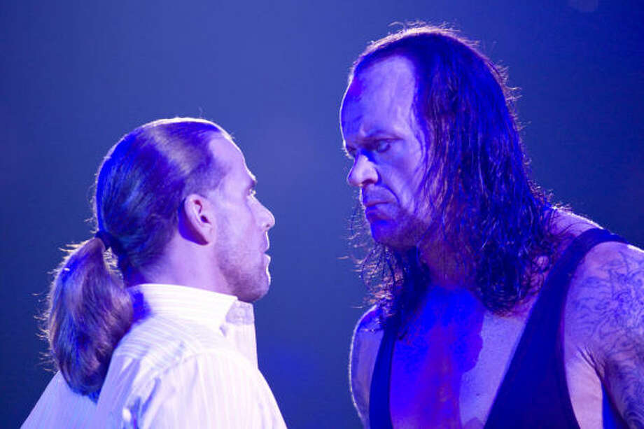 Shawn Michaels, left, (from San Antonio) and the Undertaker (from Houston) had some of the most memorable matches in Wrestlemania history. Photo: Craig Ambrosio