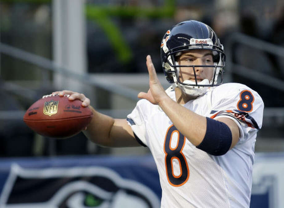 Rex Grossman's best season came in 2006 when he threw for 3,193 yards en route to the Super Bowl. He threw 23 touchdowns and 20 interceptions. Photo: AP File Photo