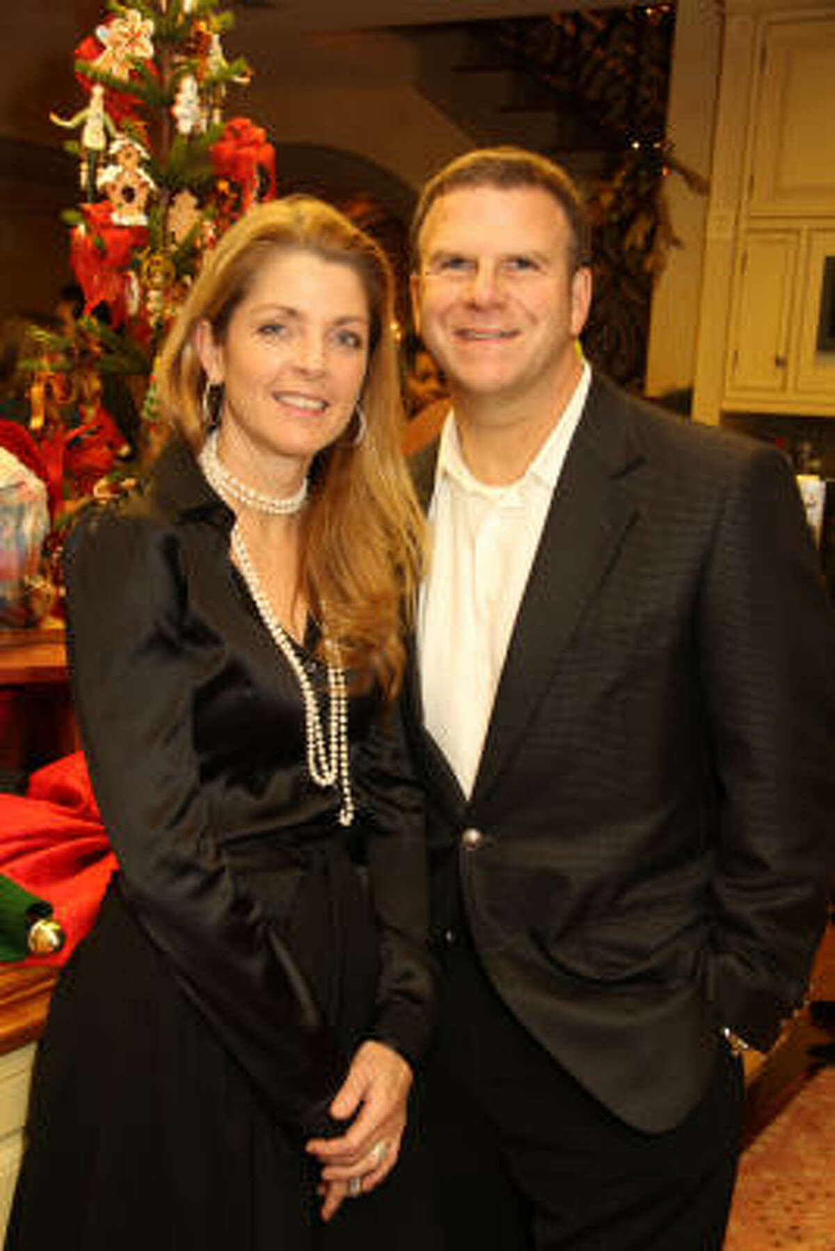 Paige and Tilman Fertitta hosted the 2009 Santa's Elves Party benefiting a pediatrics nutrition research program at the Children's Cancer Hospital at M.D. Anderson Cancer Center.