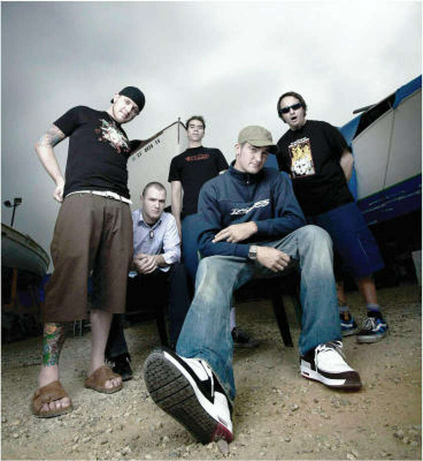 The band includes, from left, Steve Klein, Chad Gilbert, Cyrus Bolooki, Jordan Pundik and Ian Grushka. Photo: FILE PHOTO