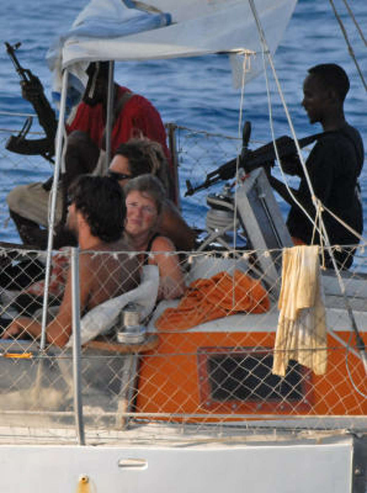 In the first five months of 2009, 125 ships were attacked by pirates off the Horn of Africa, including these French hostages in April.