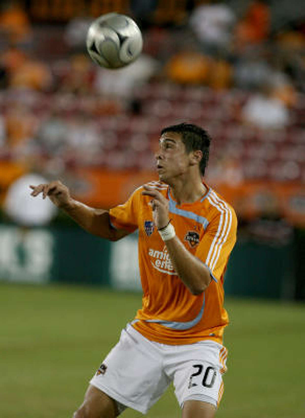 Geoff Cameron, shown against San Jose, scored in each half against the Charleston Battery.