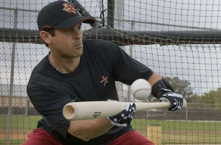 Veteran third baseman Aaron Boone was in his first spring training with the Astros. Photo: James Nielsen, Houston Chronicle