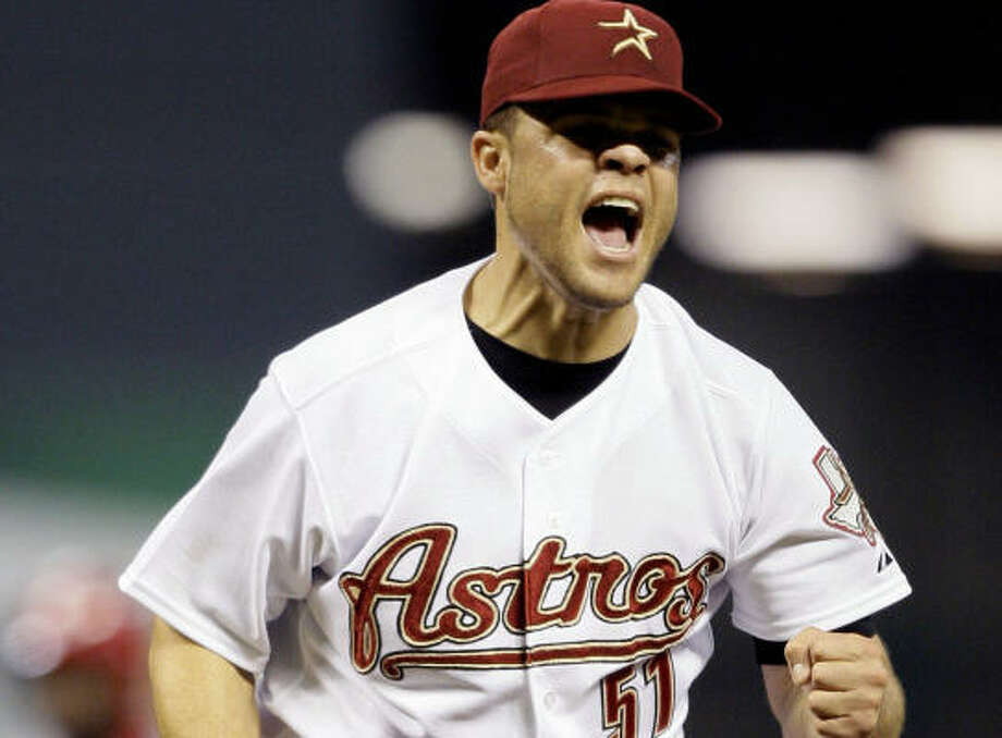 Wandy Rodriguez tied a career-high with 10 strikeouts to start the combined two-hit shutout. Photo: David J. Phillip, AP