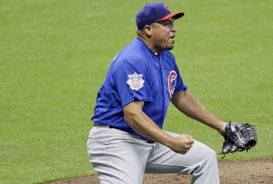 Last time the Astros saw Carlos Zambrano, he threw a no-hitter in a game moved due to Hurricane Ike. Photo: Morry Gash, AP