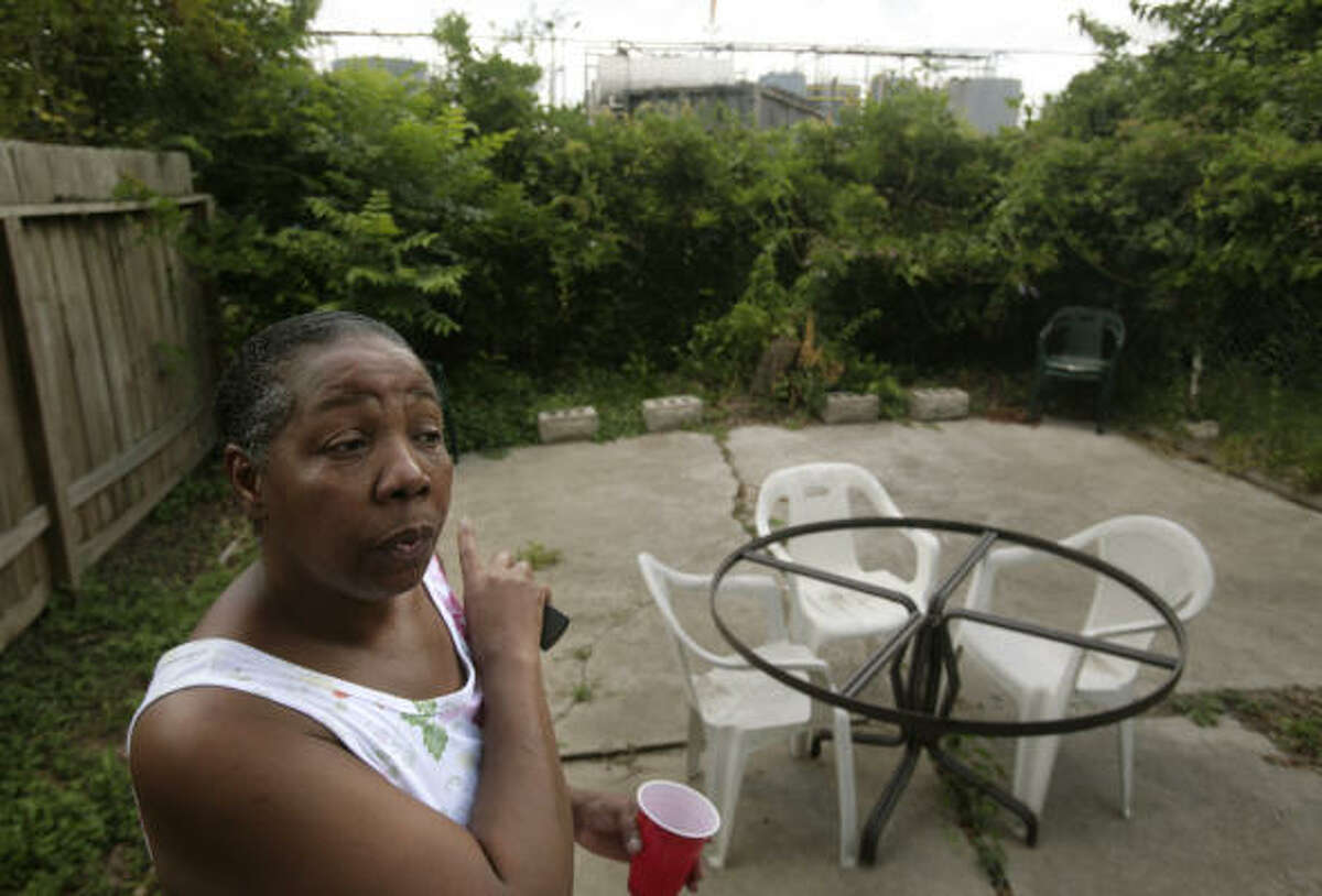 Judy Jones, who lives on Grace Lane next to the plant,  says she does not sit in her backyard because she fears there could be an explosion from the plant.