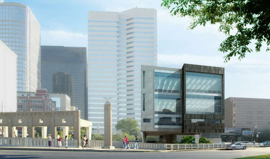 A rendering of the new Houston Ballet Center for Dance as seen from Congress. The $53 million facility will house administrative offices, nine studios and a dorm for 20 students. Photo: Gensler