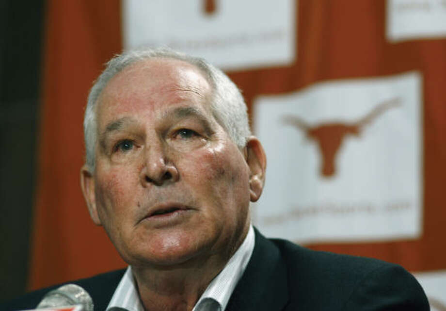 Texas baseball coach Augie Garrido will be sentenced April 30 after pleading guilty Monday to a drunken driving charge. Photo: Harry Cabluck, AP