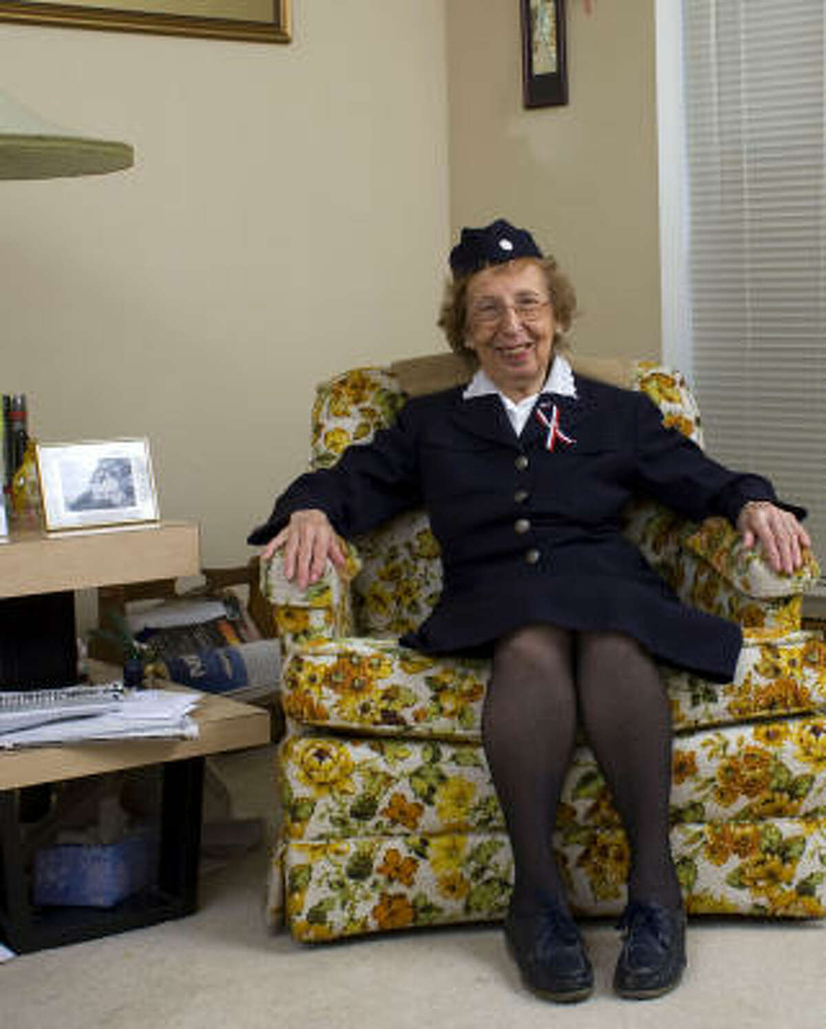 """U.S. Navy veteran Helene Lipman, whose husband escaped from Germany during the Holocaust, lives in Sugar Land. """"We did what we could,"""" she said of being one of the first military women."""