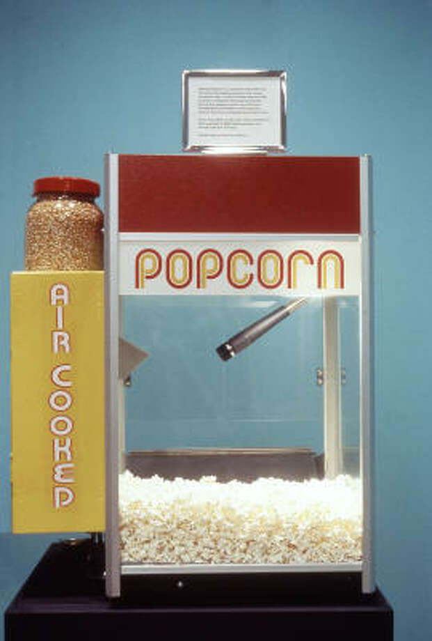 TALKING POPCORN: Nina Katchadourian's project converts the length and frequency of popcorn pops first to Morse-code dashes and dots and then to letters and words. Photo: Nina Katchadourian, Sara Meltzer Gallery, New York