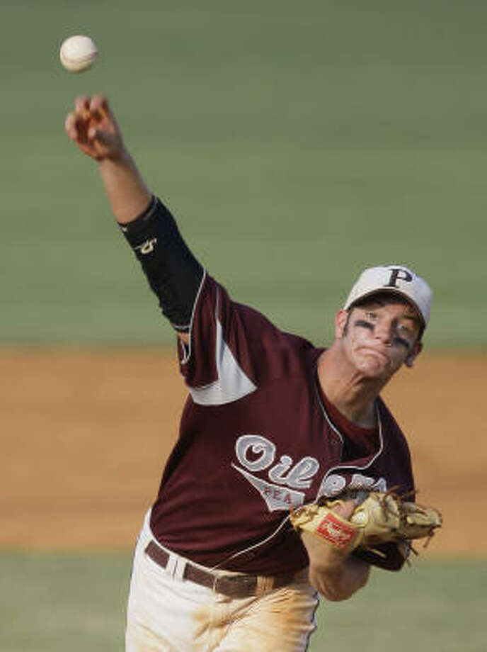 Kevin Miller and Pearland have been underdogs in every round of the baseball playoffs. Photo: Melissa Phillip, Chronicle