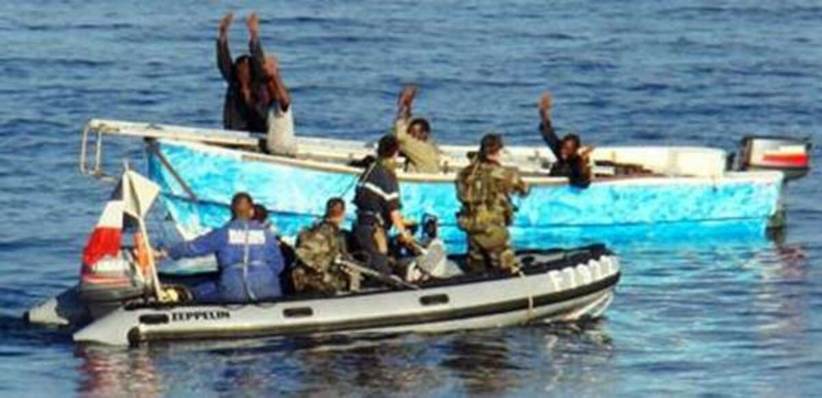 Somali pirates are not finding the pickings easier in the Gulf of Aden. On Thursday, French troops intercepted these suspects.