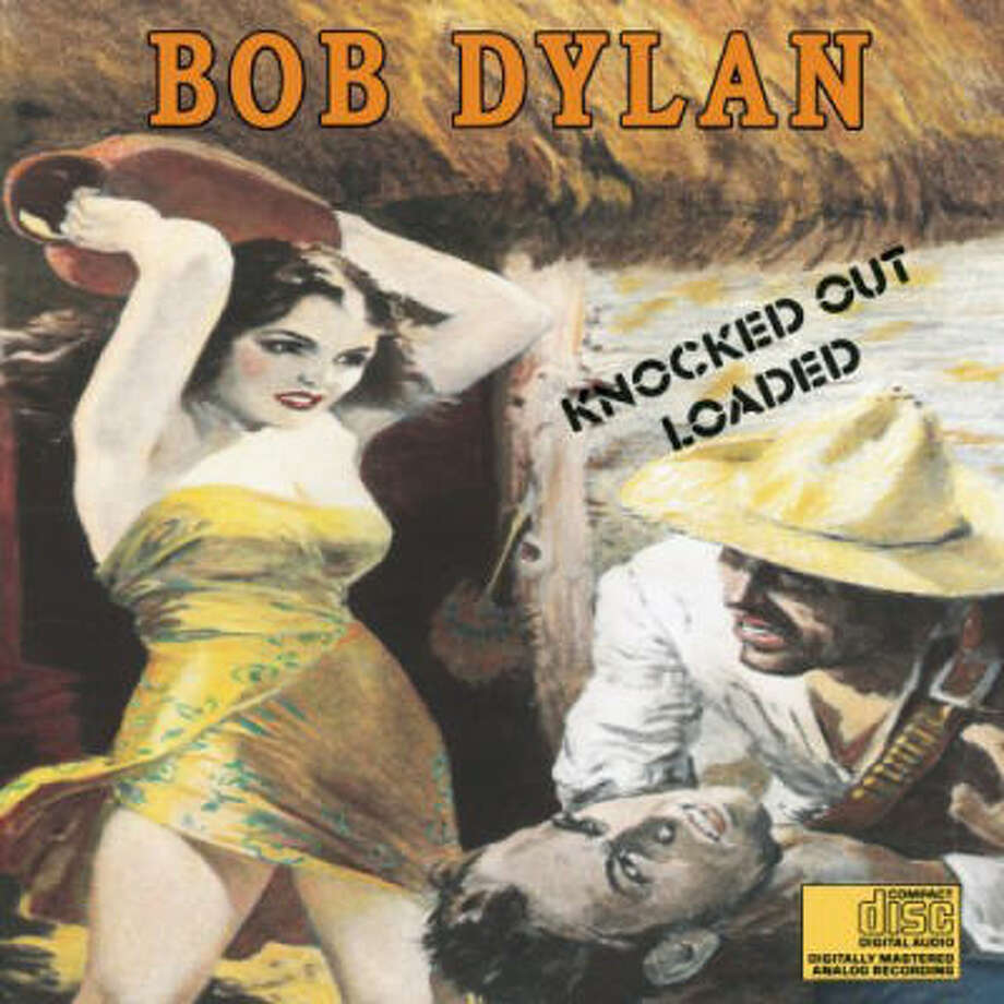The cover of Bob Dylan's Knocked Out Loaded.