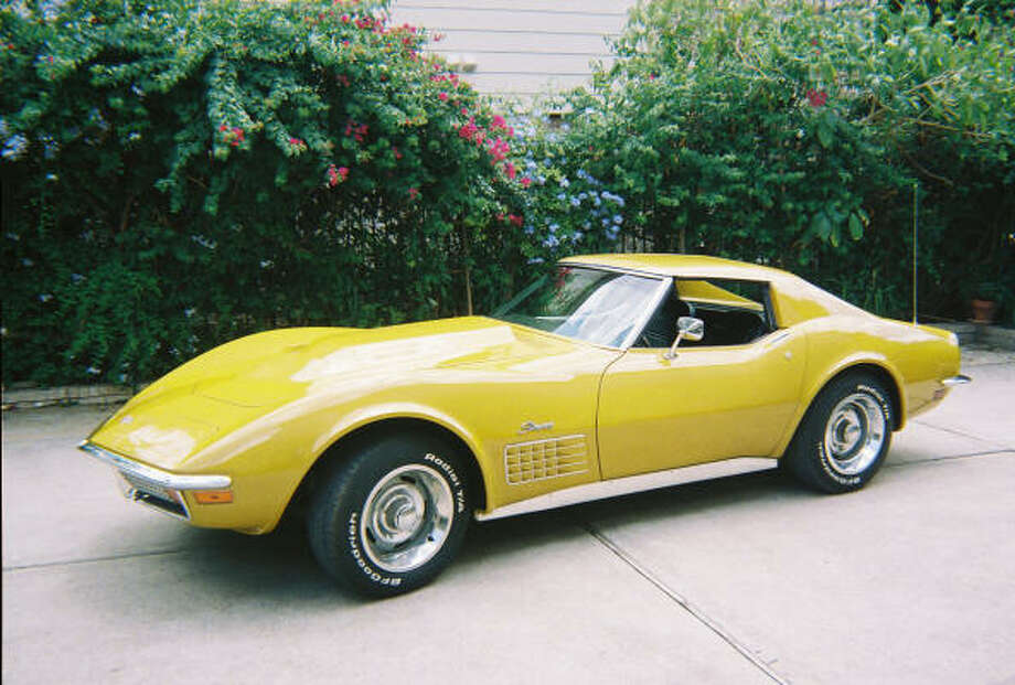 "This 1972 Corvette, ""90 percent"" restored by Gilberto Alanis, features the classic T-top design, bright-yellow paint job and a 454 V-8."