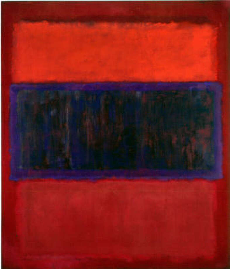 This untitled 1957 Mark Rothko painting, which is owned by the Menil Collection, could be a piece loaned to the Contemporary Arts Museum Houston. Photo: Menil Collection