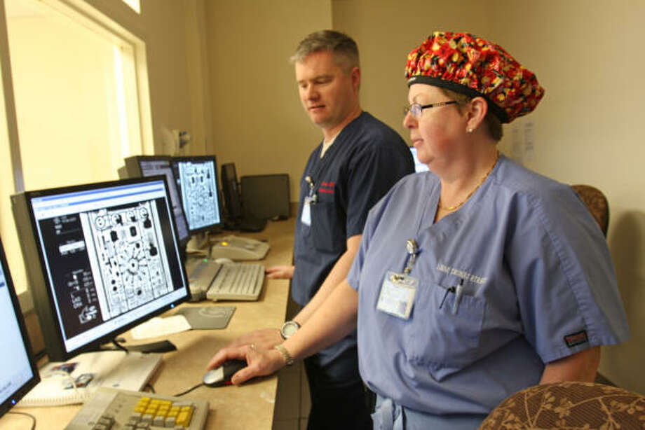 "13. Radiologic technologistMedian salary: $56,670What they do: ""Radiologic technologists, also known as radiographers, perform diagnostic imaging examinations, such as x rays, on patients. MRI technologists operate magnetic resonance imaging (MRI) scanners to create diagnostic images.""Source: U.S. News & World Report, U.S. Bureau of Labor Statistics Photo: Suzanne Rehak, For The Chronicle"
